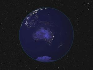 Earth Centered on Australia and Oceania by Stocktrek Images