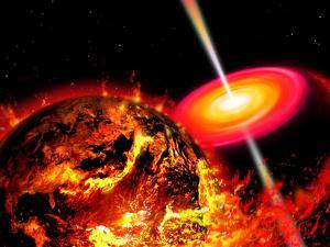 End of the World: the Earth Destroyed by a Black Hole by Stocktrek Images