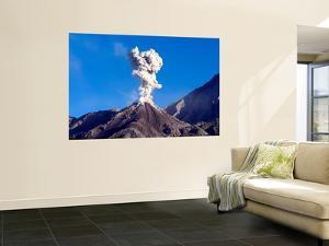 Eruption of Ash Cloud from Santiaguito Dome Complex, Santa Maria Volcano, Guatemala by Stocktrek Images