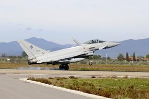 Eurofighter Ef2000 Typhoon from the Italian Air Force Landing at Grosseto Air Base by Stocktrek Images