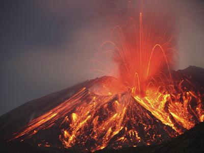 Explosive Vulcanian Eruption of Lava on Sakurajima Volcano, Japan by Stocktrek Images