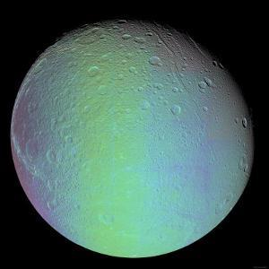 False Color View of Saturn's Moon Dione by Stocktrek Images
