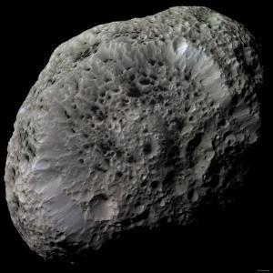 False-Color View of Saturn's Moon Hyperion by Stocktrek Images
