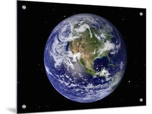 Full Earth Showing North America (With Stars) by Stocktrek Images