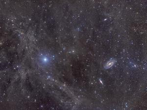 Galaxies M81 And M82 As Seen Through the Intergalactic Flux Nebula by Stocktrek Images