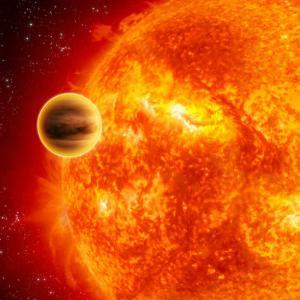 Gas-Giant Exoplanet Transiting Across the Face of Its Star by Stocktrek Images