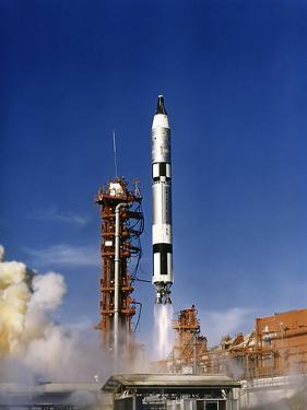 Gemini 12 Astronauts Lift Off Aboard a Titan Launch Vehicle by Stocktrek Images