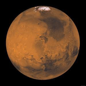 Global Color View of Mars by Stocktrek Images