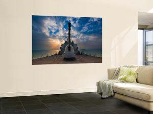 Guided-Missile Destroyer Uss Higgins by Stocktrek Images