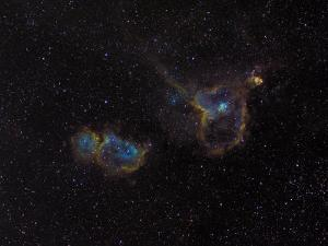 Heart and Soul Nebulae by Stocktrek Images