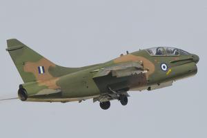 Hellenic Air Force Ta-7 Corsair Ii Taking Off by Stocktrek Images