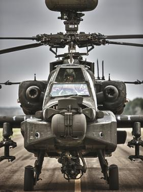 High Dynamic Range Image of An AH-64 Apache Helicopter On the Runway by Stocktrek Images