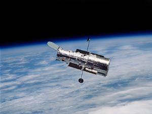 Hubble Space Telescope in Orbit Around Earth by Stocktrek Images