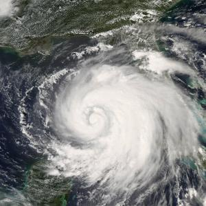 Hurricane Ike, from International Space Station by Stocktrek Images