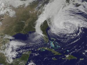 Hurricane Sandy Along the East Coast of the United States by Stocktrek Images