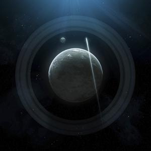 Illustration of a Simple Planet and its Ring System by Stocktrek Images