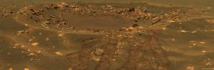 Impact Crater in the Meridian Planum Region of Mars by Stocktrek Images