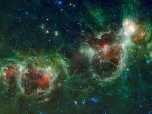 Infrared Mosaic of the Heart And Soul Nebulae in the Constellation Cassiopeia by Stocktrek Images