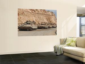 Israeli Defense Force Merkava Mark IV Battle Tanks En Route to Lebanon by Stocktrek Images