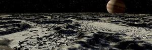 Jupiter's Moon, Europa, Covered by a Thick Crust of Ice by Stocktrek Images