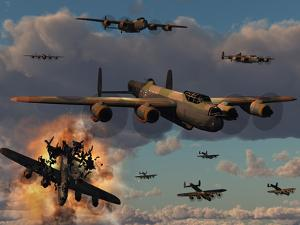 Lancaster Heavy Bombers of the Royal Air Force Bomber Command by Stocktrek Images