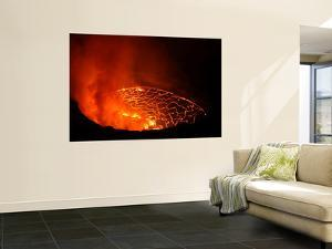 Lava Lake in Pit Crater, Nyiragongo Volcano, Democratic Republic of Congo by Stocktrek Images