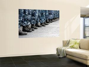 Low Section View of Sailors Forming Ranks for an Award Ceremony by Stocktrek Images