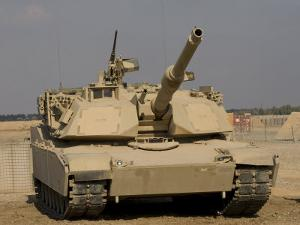 M1 Abrams Tank at Camp Warhorse by Stocktrek Images
