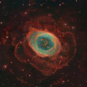 Messier 57, the Ring Nebula by Stocktrek Images