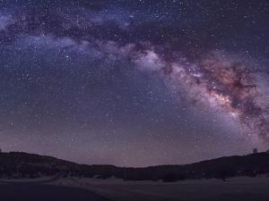 Milky Way Rises the McDonald Observatory Near Fort Davis, Texas by Stocktrek Images