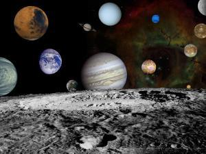 Montage of Images Taken by the Voyager Spacecraft by Stocktrek Images