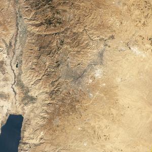 Natural-color Satellite View of Amman, Jordan by Stocktrek Images