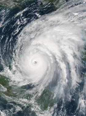 October 21, 2005, Hurricane Wilma Over Mexico by Stocktrek Images