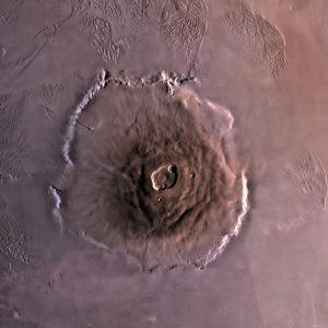 Olympus Mons, the Largest known Volcano in the Solar System by Stocktrek Images