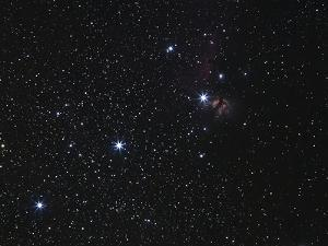 Orion's Belt, Horsehead Nebula And Flame Nebula by Stocktrek Images
