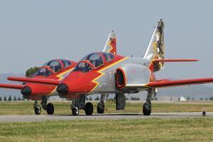 Pair of Spanish Air Force C-101 of the Patrulla Aguila Aerobatics Team by Stocktrek Images