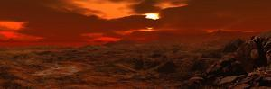 Panorama of a Landscape on Venus by Stocktrek Images