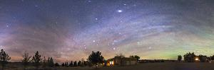Panorama of the Celestial Night Sky in Southwest New Mexico by Stocktrek Images