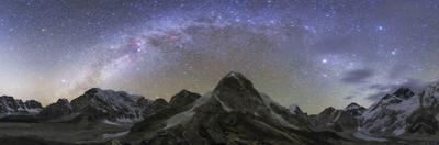 Panoramic View of Mt. Everest, Khumbu Glacier, Nuptse and Pumori Mountains in Nepal by Stocktrek Images