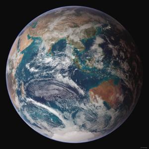 Planet Earth Eastern Hemisphere, NASA Satellite Composite by Stocktrek Images