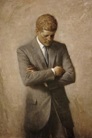 Portrait Painting of President John Fitzgerald Kennedy by Stocktrek Images