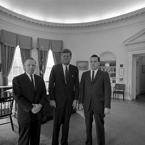 President John. F. Kennedy with Visitors at the White House by Stocktrek Images