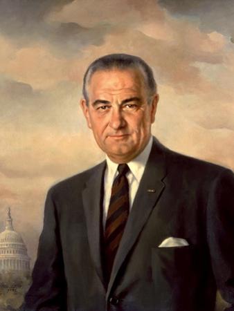Presidential Portait of Lyndon Baines Johnson by Stocktrek Images