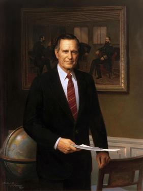 Presidential Portrait of President George H.W. Bush by Stocktrek Images