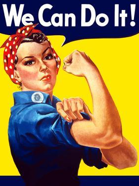 Rosie the Riveter Vintage War Poster from World War Two by Stocktrek Images