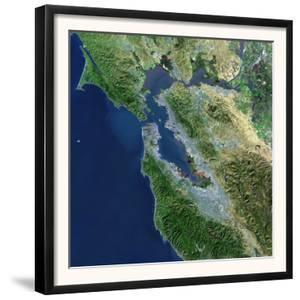 San Francisco, California, Satellite View by Stocktrek Images