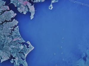 Satellite Image of Chesapeake Bay and Annapolis, Maryland by Stocktrek Images