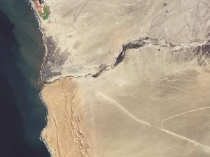 Satellite Image of the Swakop River in the Western Part of Namibia by Stocktrek Images