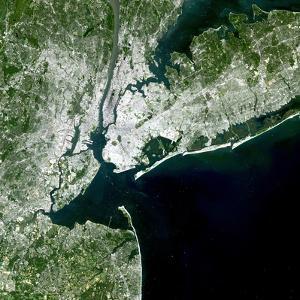 Satellite View of New York City by Stocktrek Images