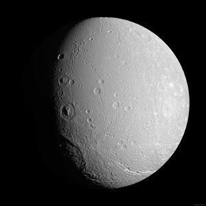 Saturn's Moon Dione by Stocktrek Images